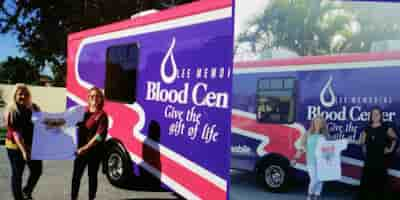 Men's Rights Law Firm Blood Mobile for Lee Memorial