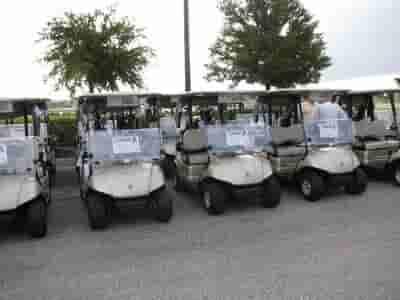 Getting ready to attend the Dellutri Classic Golf Tournament